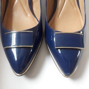 PUMPS ANDREW GELLER NAVY BLUE SIZE 8.5